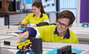 SM TAFE won the award for a partnership with Rio Tinto that saw youth enter into automation careers